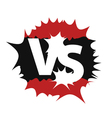 Versus sign symbol vector image