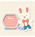 Cartoon Bunny vector image vector image