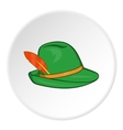 Irish hat icon cartoon style vector image