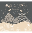 Cartoon Christmas background vector image vector image