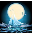 Seascape with sailboat vector image vector image