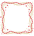 heart beads vector image