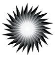 Spiral radiating sun burst vector image vector image