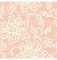 Old lace seamless pattern with ornamental flowers vector image