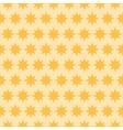 Holiday orange star seamless pattern vector image