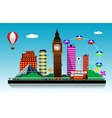 London city background vector image