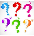 colorful paper question mark for speech vector image