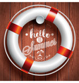 Say Hello to Summer inspiration quote lifebuoy vector image