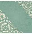 Abstract background with floral lace vector image