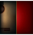 abstract grunge red music background with acoustic vector image