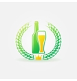 Best Beer bright logo or label vector image