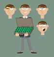 businessman holds a suitcase with money vector image