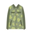 Camouflage jacket flat icon vector image