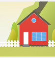 colorful house concept house flat icon design vector image
