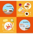 Continental and French Breakfast concepts vector image
