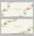 cute collection invitation cards with crocus for vector image