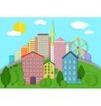 Modern city cardboard landscape Paper color style vector image