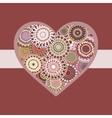 Romantic bright colorful heart pink ribbon vector image