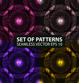 set of 4 seamless glowing ethnic patterns vector image