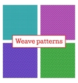 Set of geometric weave pattern in white background vector image