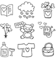 Love with hand draw set doodles vector image