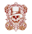 gambling Skull with top hat vector image vector image