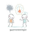 gastroenterologist tells the patient about the vector image vector image