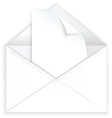 White envelope and corner paper vector image vector image