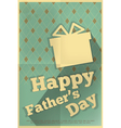 fathers day poster box vector image