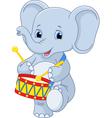 elephant drummer vector image vector image