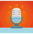 podcast icon in flat icon vector image