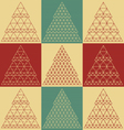 Stylized flat Christmas trees icons vector image vector image