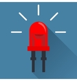 Red Light Emitting Diode vector image