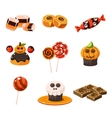 Colorful Traditional Halloween Sweets vector image