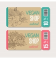 Organic shop template vector image