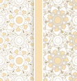 set of two pastel floral seamless patterns vector image
