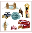 Watercolor London Set vector image