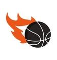 basketball theme emblem icon vector image