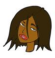 comic cartoon annoyed woman vector image