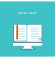 E-book Flat backgrounds set vector image