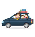 family traveling together on vacations vector image