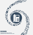 home phone icon in the center Around the many vector image