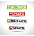 icons upload download design isolated vector image