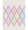 Knit Woolen Baby Ornament Texture vector image