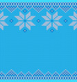 knitted christmas and new year traditional pattern vector image