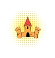 Medieval castle fortress comics icon vector image