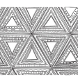 Seamless black and white pattern of triangles vector image