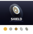 Shield icon in different style vector image