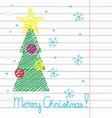 Crayon Merry Christmas vector image