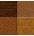 Set wood seamless backgrounds vector image